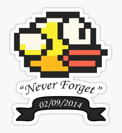 R.I.P. Flappy Bird Sticker