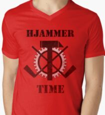 Hjammer Time Men's V-Neck T-Shirt