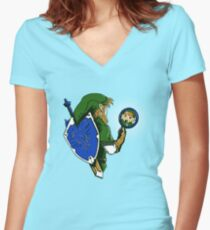A Link Too the Past Women's Fitted V-Neck T-Shirt