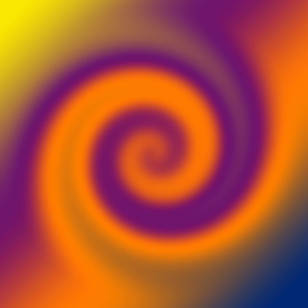 Quot Circle Swirl Orange Purple Quot By Donnagrayson Redbubble