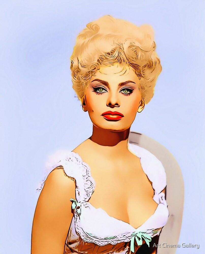 Sophia Loren in Heller in Pink Tights by Art Cinema Gallery