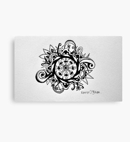 Dharma Wheel Canvas Print