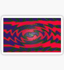 Groovy Red Blue Abstract Sticker