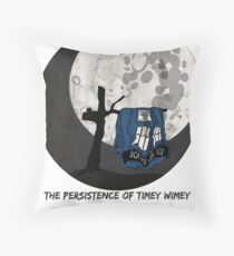 The Persistence of Timey Wimey Grunge Throw Pillow