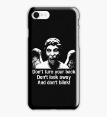 Weeping Angel, Don't Blink... iPhone Case/Skin