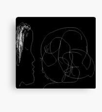 The Conversation/Version I -(110214)- Digital Artwork/MS Paint Canvas Print