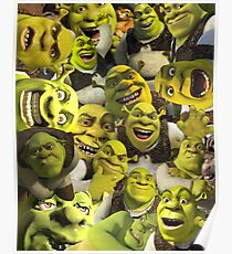 Shrek-Collage Poster