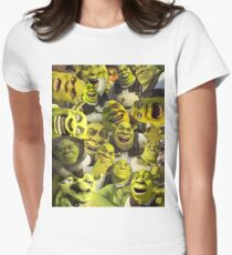 Shrek Collage  Women's Fitted T-Shirt