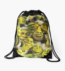 Shrek Collage  Drawstring Bag