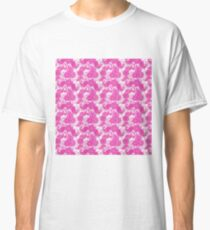Vintage neon pink purple paisley floral pattern  Classic T-Shirt