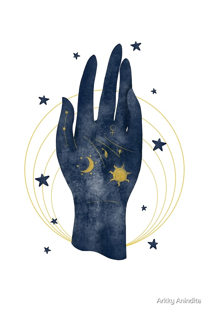 Palmistry in Blue by Arkky Anindita