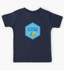 I'd rather be playing (Board games CATAN) Kids Tee