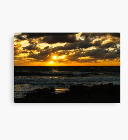 Fire on The Atlantic Ocean Canvas Print