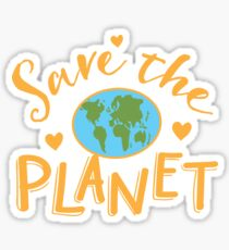 SAVE THE PLANET (hippy edition) Sticker