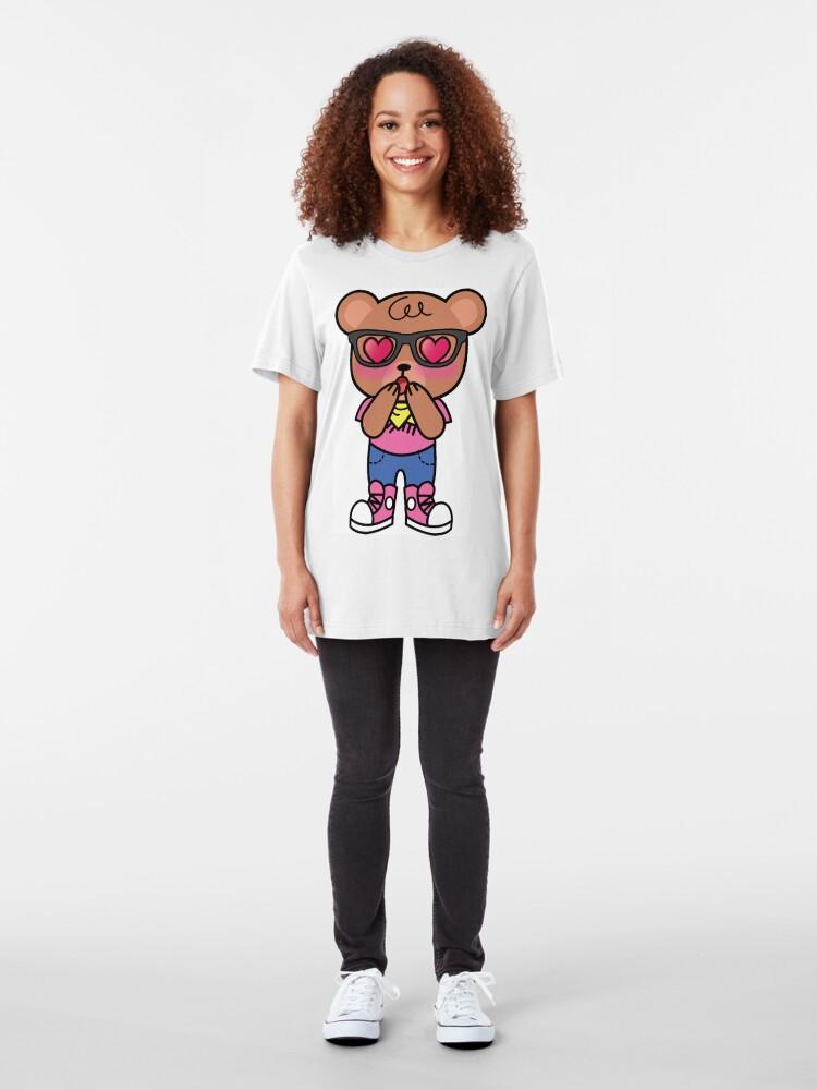 Alternate view of XOHIpsterLoveBear Slim Fit T-Shirt