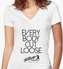Footloose - Everybody Cut Loose Women's Fitted V-Neck T-Shirt