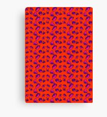 Bright Bold Abstract Patterned Contrasting Color Mix Canvas Print