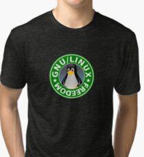 Tux : GNU/LINUX FREEDOM Tri-blend T-Shirt