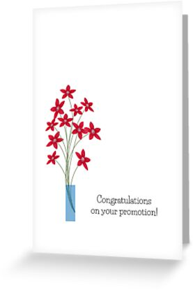 congratulation promotion cards