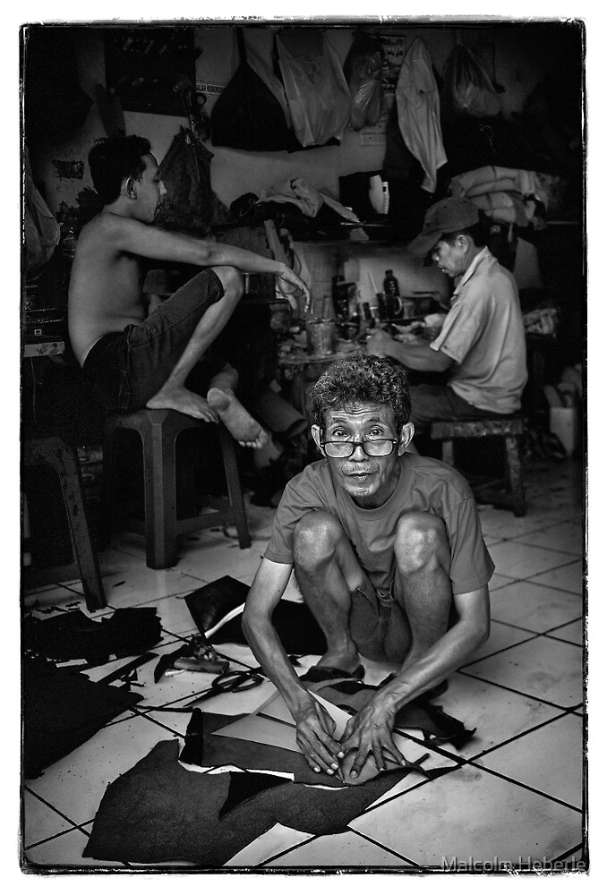 Faces of Kuta  #06 ... Bali  by Malcolm Heberle