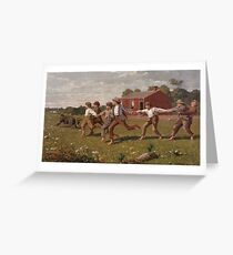 Winslow Homer, SNAP THE WHIP Greeting Card