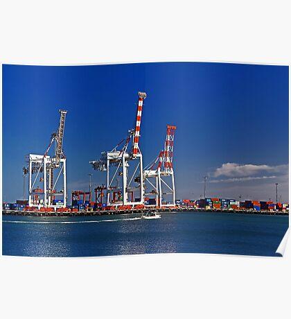 Fremantle Harbour - Western Australia  Poster