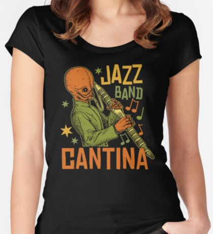Cantina Jazz Band Women's Fitted Scoop T-Shirt