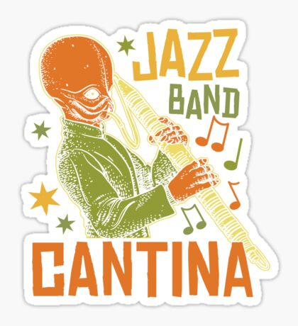 Cantina Jazz Band Sticker