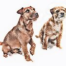 Snow loving terriers by John Lynch