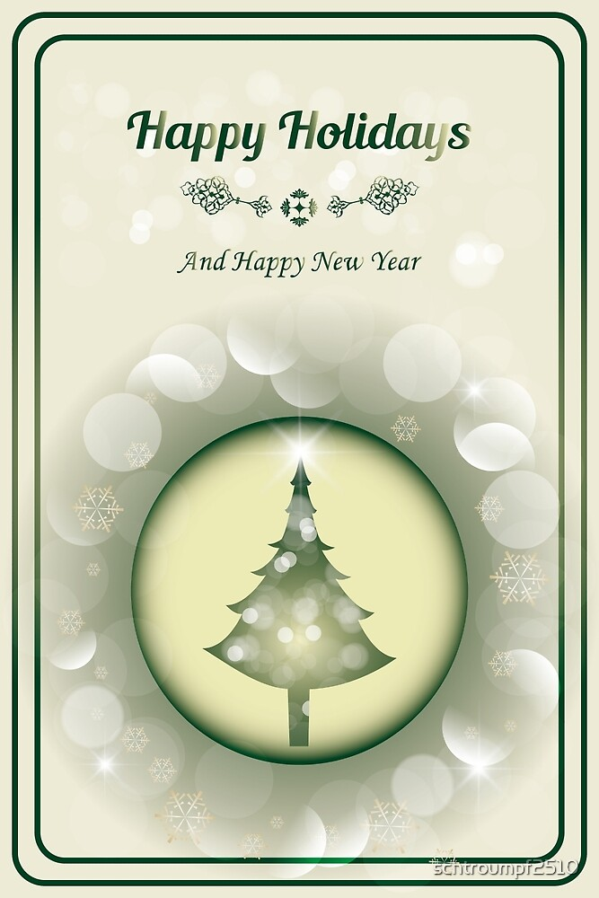Beautiful Christmas Card - Merry Christmas and Happy New Year by schtroumpf2510