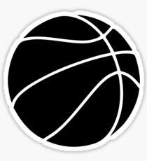 Black basketball Sticker