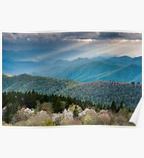 Southern Appalachian Great Smoky Mountain Scenic Landscape Poster