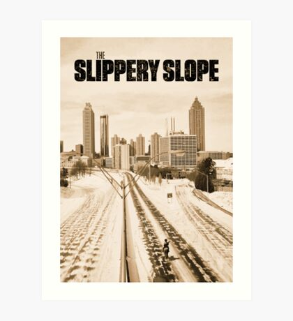 Atlanta Icepocalypse - PAX - Slippery Slope Art Print