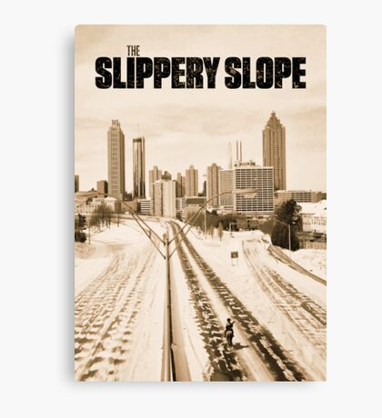 Atlanta Icepocalypse - PAX - Slippery Slope Canvas Print