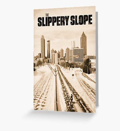Atlanta Icepocalypse - PAX - Slippery Slope Greeting Card