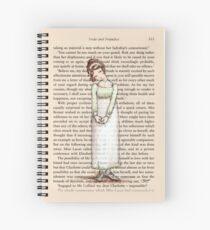 Pride and Prejudice - Elizabeth Bennet in White. Spiral Notebook