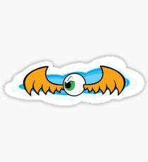 Angry Flying Eye - Orange Sticker