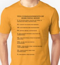 The Ten Commandments of Marching Band T-Shirt
