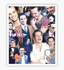 andrew scott collage Sticker