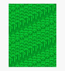 Video Game Controllers - Green Photographic Print