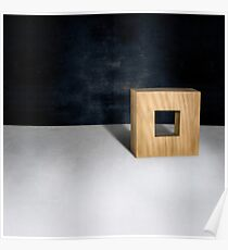 Wood Square 3d Natural Poster