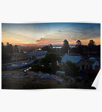 Sunset over Flagstaff Hill Poster