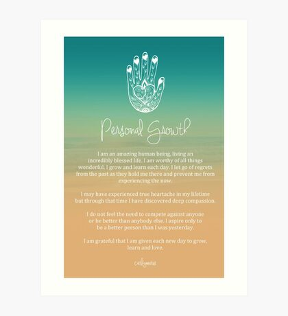 Affirmation - Personal Growth Art Print