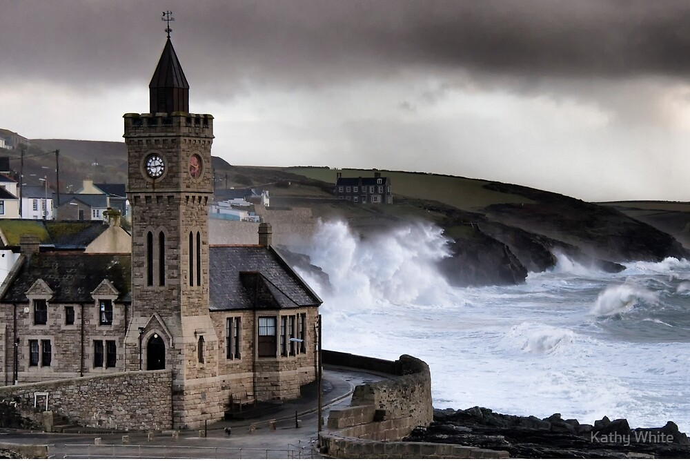 A south westerly storm pounds into Porthleven by kathleenjean