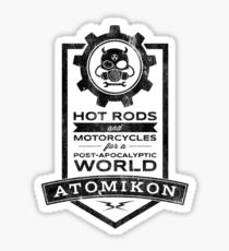 ATOMIKON Hot Rods & Motorcycles Sticker