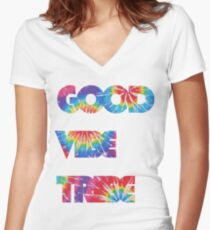 Good Vibe Tribe Women's Fitted V-Neck T-Shirt