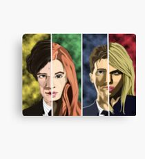 Doctor and Companions Canvas Print