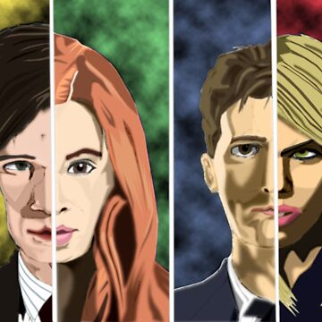 Doctor and Companions by RyanButlerArt