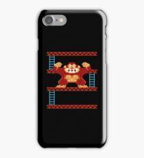 Classic 8 bit monkey  iPhone Case/Skin