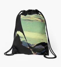 black squirrel  Drawstring Bag